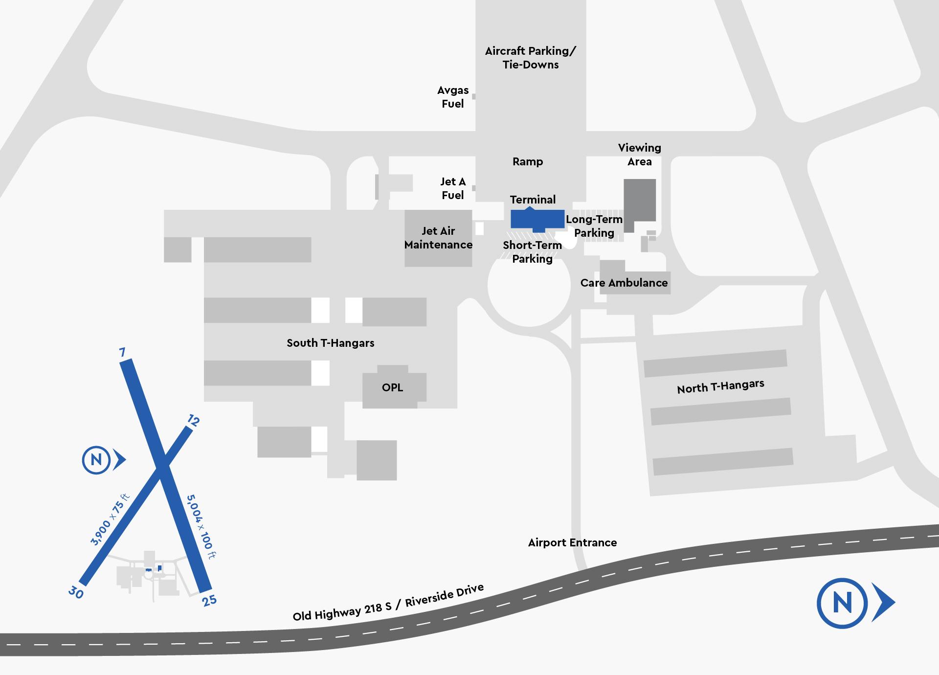 Iowa City Airport Pilot Map